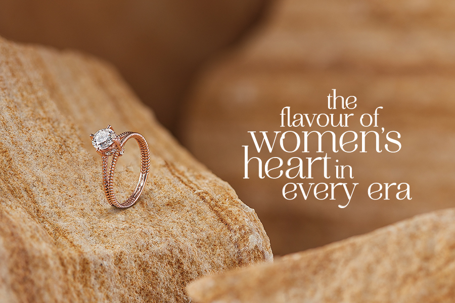 rose gold jewellery, the flavour of women's heart in every era
